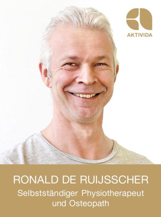 Ronald de Ruijsscher, selbstständiger Physiotherapeut und Osteopath