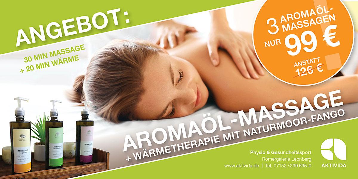 Aromaöl-Massage+Naturmoor-Fango Angebot 12-2017