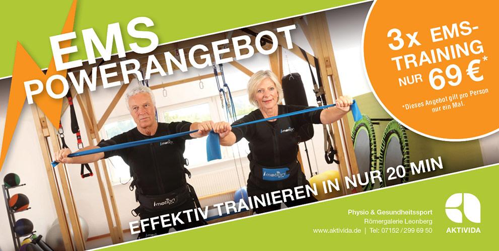 EMS-Training. AKTIVIDA. Römergalerie Leonberg.