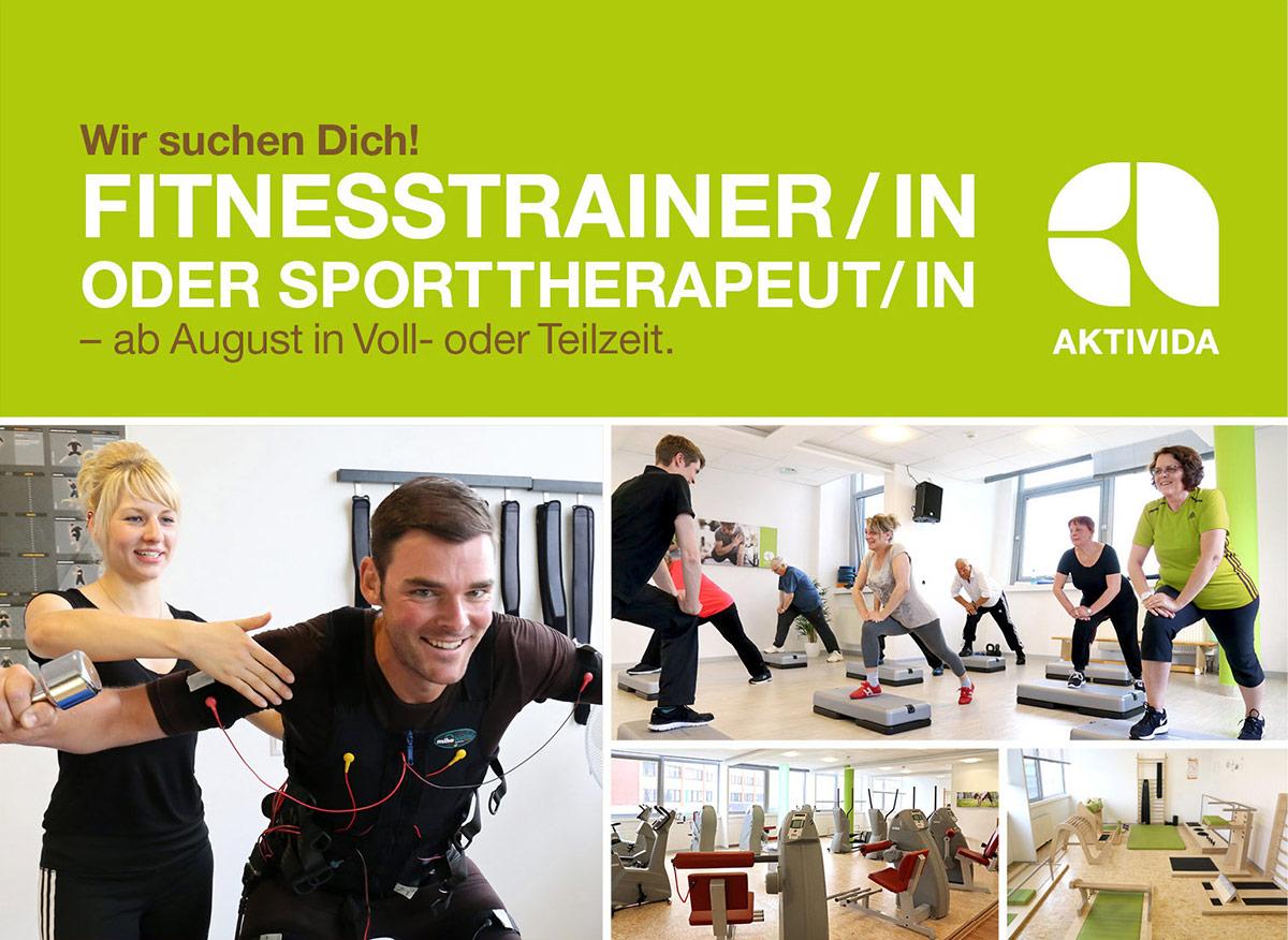 Wir suchen Dich als Fitnesstrainer/-in oder Sporttherapeut/-in