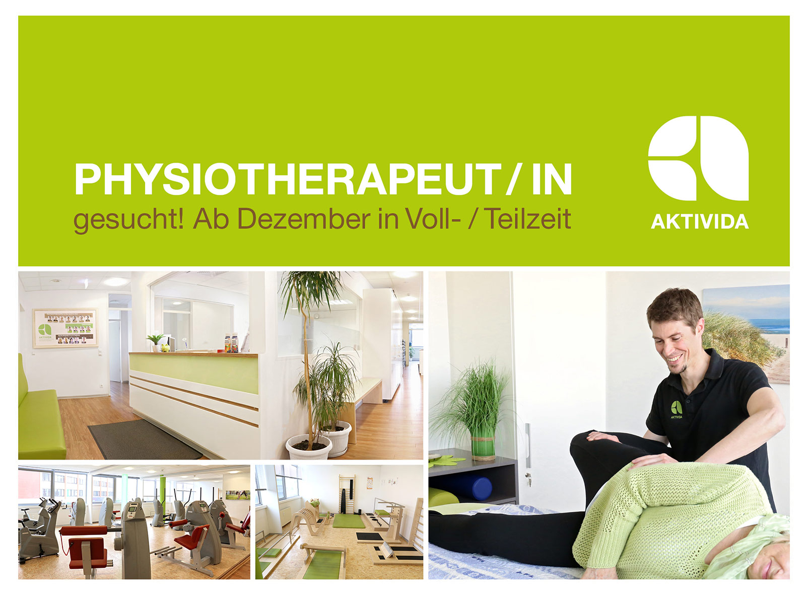 Physiotherapeut-in gesuch AKTIVIDA Leonberg 12-2019