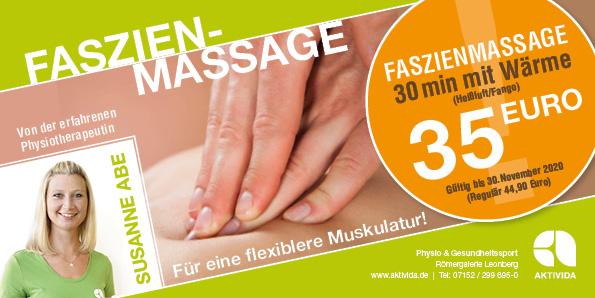 Faszienmassage #Herbstangebot #Heißluft #Fango #Faszientechnik