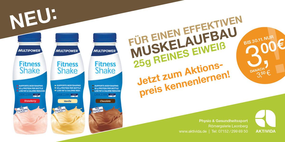 Fitness-Shake zum Einführungspreis