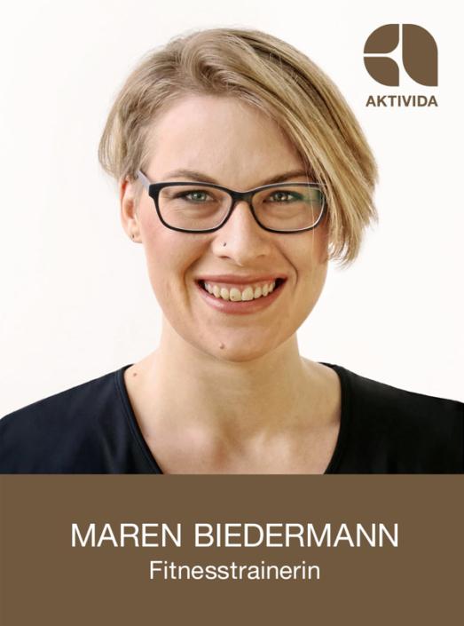 Maren Biedermann, Fitnesstrainerin