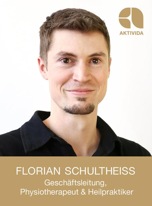 Florian Schultheiss, Geschäftsleitung, Physiotherapeut & Heilpraktiker